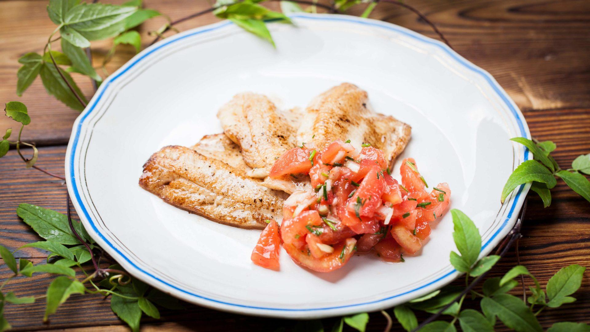 Ahventa ja tomaatticoncasse, ahvenresepti | Reseptit | Hätälä Oy