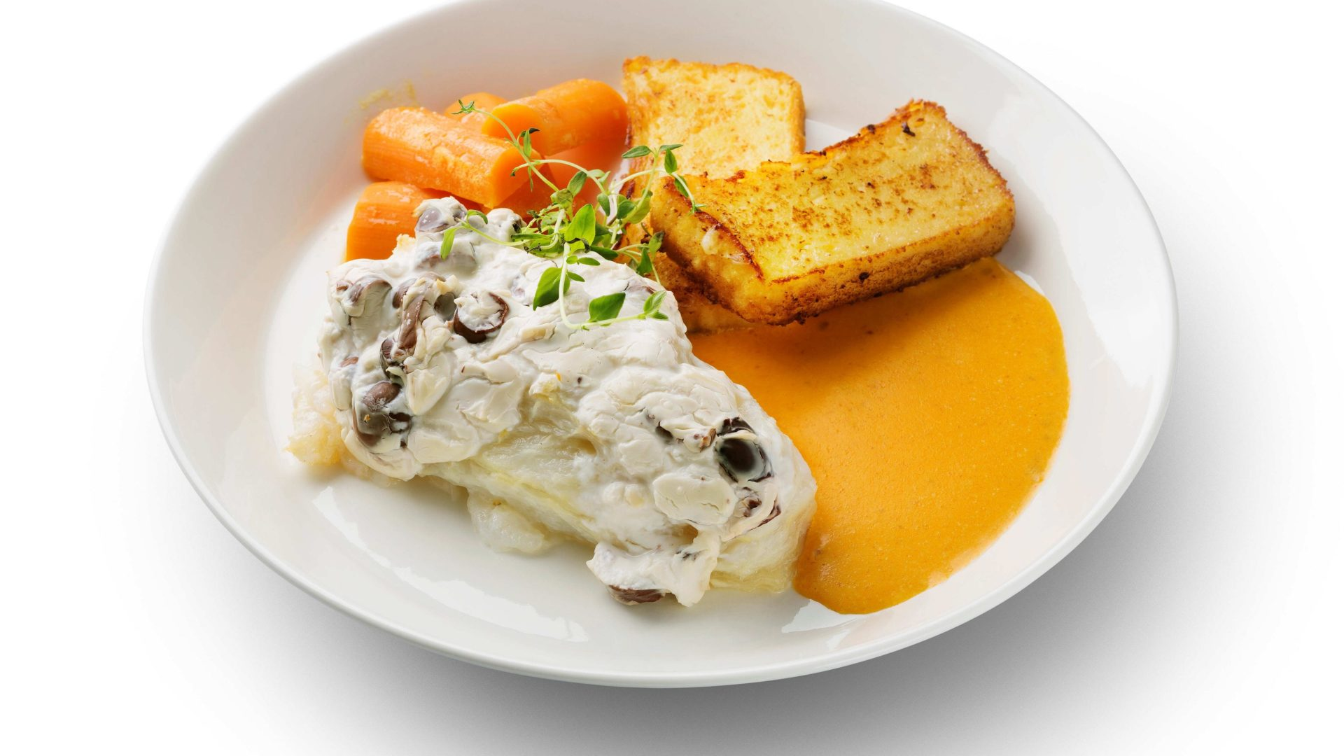 Gratinoitua lipeäkalaa tomaatti-äyriäiskastikkeella | Reseptit | Hätälä Oy