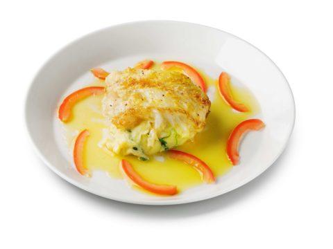 Lipeäkalaconfit ja pinaattiperunasose | Reseptit | Hätälä Oy
