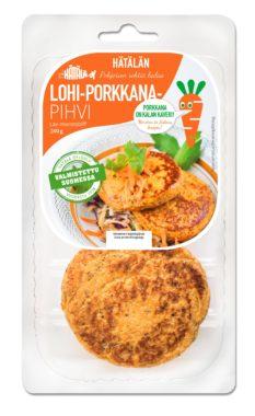 Lohi-porkkanapihvi pakkauskuva | Kalatuotteet | Hätälä