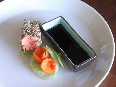 Soija-inkiväärimarinoitua lohta wasabikastikkeella | Reseptit | Hätälä Oy