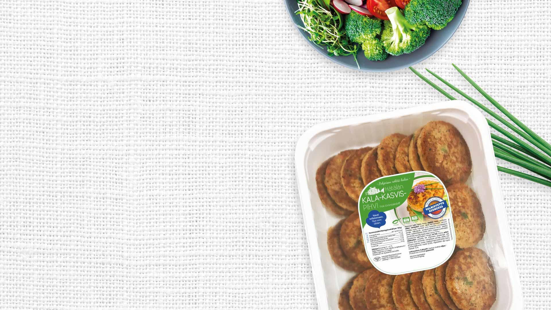 Kala-kasvispihvi 1 kg pakkaus | Kalatuotteet | Hätälä