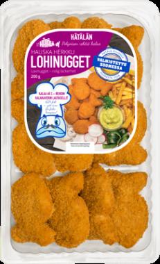 Hätälän Lohinugget 200 g pakkauksessa | Kalatuotteet | Hätälä