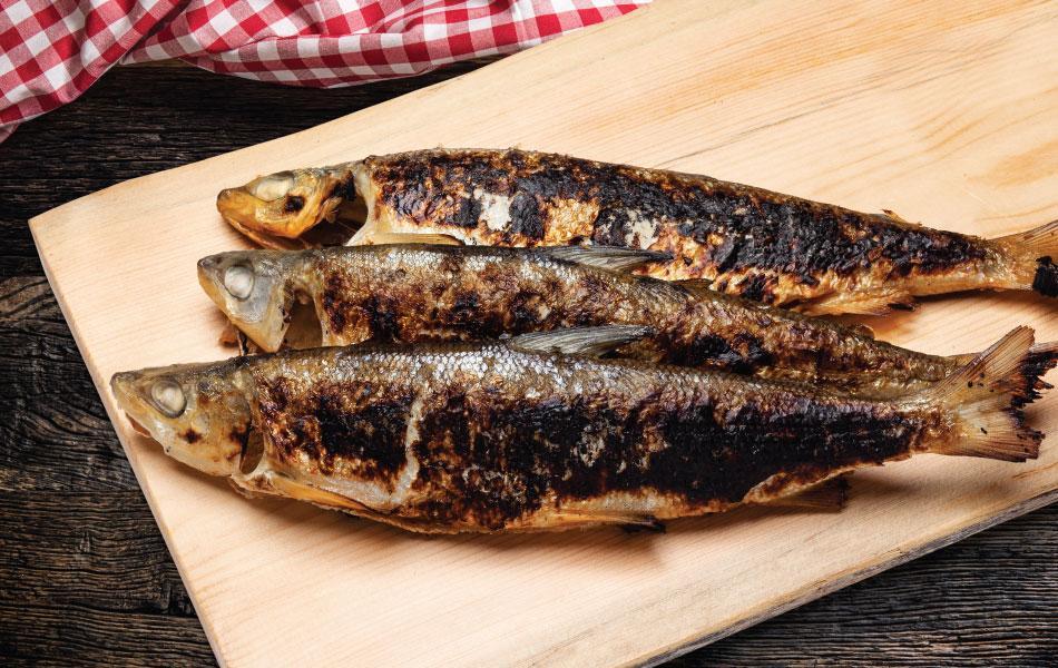 Savustettuja siikoja   Kauden kala   Hätälä